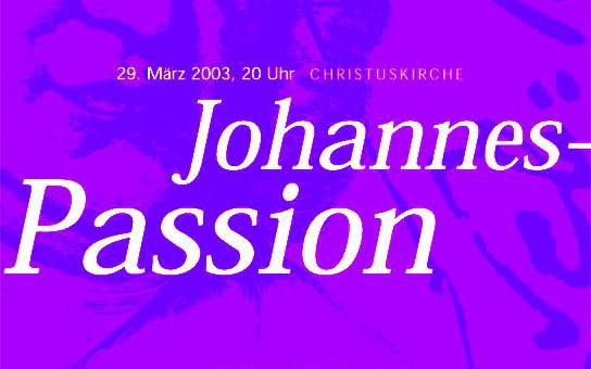 """""""Johannespassion"""" von  J. S. Bach"""